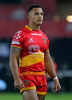Ashton Hewitt of the Dragons in action during the Guinness PRO14 match between Ospreys and Dragons at The Liberty Stadium, Swansea, Wales, UK. Friday 27 October 2017