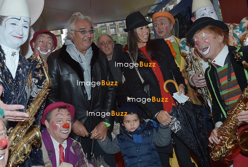 FLAVIO BRIATORE/January 20, 2013-Monaco (MCO)-Flavio Briatore with wife Elisabeta Gregoraci and son Falco Nathan at the 37th Monte-Carlo Circus Festival........