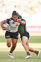 Tohu Harris of the NZ Warriors, Rabbitohs v Vodafone Warriors, NRL rugby league premiership. Optus Stadium, Perth, Western Australia. 10 March 2018. Copyright Image: Daniel Carson / www.photosport.nz