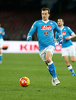 Napoli's Vlad Chireches controls the ball during the Quartef-final of Tim Cup soccer match,between SSC Napoli and vFC Inter    at  the San  Paolo   stadium in Naples  Italy , January 19, 2016