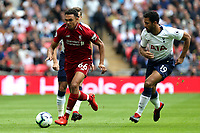 Trent Alexander-Arnold of Liverpool and Mousa Dembele of Tottenham Hotspur during Tottenham Hotspur vs Liverpool, Premier League Football at Wembley Stadium on 15th September 2018