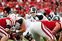 29 October 2011: Kirk Cousins #8 of the Michigan State Spartans under center in the fourth quarter against the Nebraska Cornhuskers at Memorial Stadium in Lincoln, Nebraska.  Nebraska defeated Michigan State 24 to 3.