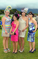 Pictured at the Dawn Dairies Queen of Fashion Ladies Day at Killarney Races were Geraldine Ahern, Joan McKenna, Bernadette O'Sullivan and Elaine Courtney from Milltown.<br /> Picture by Don MacMonagle<br /> <br /> Pr photo from Dawn Daires