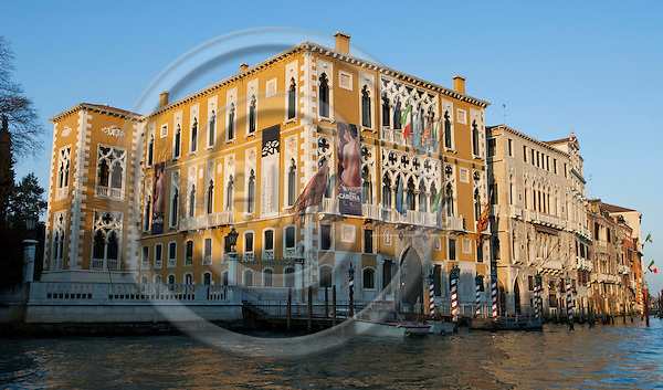 Venice-Italy - March 28, 2010 -- Palazzo Cavalli-Franchetti on Grand Canal / Canal Grande (not: Canale Grande) -- architecture -- Photo: Horst Wagner / eup-images