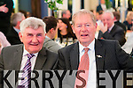 Micko Dwyer and Micheal O Muircheartaigh at the Austin Stacks fundraiser at Ballygarry house hotel on Friday.