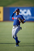 AZL Rangers outfielder Angel Aponte (78) warms up before an Arizona League game against the AZL Brewers Blue on July 11, 2019 at American Family Fields of Phoenix in Phoenix, Arizona. The AZL Rangers defeated the AZL Brewers Blue 5-2. (Zachary Lucy/Four Seam Images)