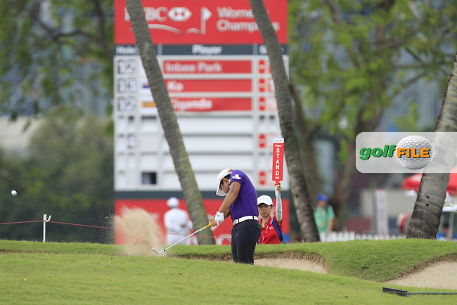 Haru Nomura (JPN) on the 16th fairway during Round 3 of the HSBC Women's Champions at the Sentosa Golf Club, The Serapong Course in Singapore on Saturday 7th March 2015.<br /> Picture:  Thos Caffrey / www.golffile.ie