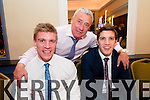 Tommy Walsh, Ogie Moran and David Moran at the Austin Stacks fundraiser at Ballygarry house hotel on Friday.