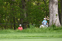 Ross Fisher (ENG) looks for his ball in the trees on 13 during round 4 of the 2019 PGA Championship, Bethpage Black Golf Course, New York, New York,  USA. 5/19/2019.<br /> Picture: Golffile | Ken Murray<br /> <br /> <br /> All photo usage must carry mandatory copyright credit (© Golffile | Ken Murray)