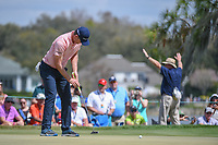 Justin Rose (ENG) watches his putt on 7 during round 3 of the Arnold Palmer Invitational at Bay Hill Golf Club, Bay Hill, Florida. 3/9/2019.<br /> Picture: Golffile | Ken Murray<br /> <br /> <br /> All photo usage must carry mandatory copyright credit (&copy; Golffile | Ken Murray)