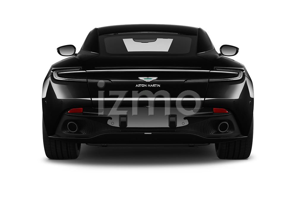 Straight rear view of 2018 Aston Martin DB11 - 2 Door Coupe Rear View  stock images