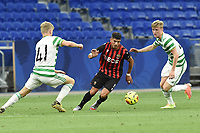 16th July 2020; Nice, France; Veolia Trohy Football friendly, OGC Nice versus Celtic FC;  Youcef Atal nice takes on the celtic defense