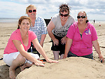 PLorraine Brady, Lisa Newe, Catherine Curley and Ann Bell who took part in the annual sandcastle competition on Bettystown beach. hoto: Colin Bell/pressphotos.ie