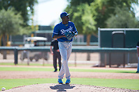 Kansas City Royals relief pitcher Malcolm Van Buren (52) gets ready to deliver a pitch during an Instructional League game against the Chicago White Sox at Camelback Ranch on September 25, 2018 in Glendale, Arizona. (Zachary Lucy/Four Seam Images)