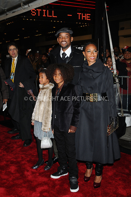 WWW.ACEPIXS.COM . . . . .  ....December 9, 2008. New York City.....Actors Will Smith, Jada Pinkett Smith, Willow Smith and Jaden Smith attend 'The Day the Earth Stood Still' premiere held at the AMC Loews Lincoln Theatre on December 9, 2008 in New York City.......Please byline: AJ Sokalner - ACEPIXS.COM.... *** ***..Ace Pictures, Inc:  ..Philip Vaughan (646) 769 0430..e-mail: info@acepixs.com..web: http://www.acepixs.com