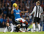 James Tavernier caught late by Lewis Morgan