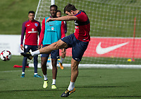 Harry Maguire during the part open training session of the  England national football squad at St George's Park, Burton-Upon-Trent, England on 31 August 2017. Photo by James Williamson.