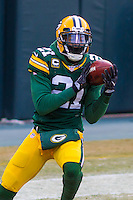 Green Bay Packers safety Ha Ha Clinton-Dix (21) prior to a game against the New York Giants on January 8th, 2017 at Lambeau Field in Green Bay, Wisconsin.  Green Bay defeated New York 38-13. (Brad Krause/Krause Sports Photography)