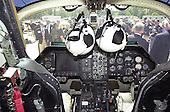 This is the cockpit of the XV-15 tilt rotor aircraft following its final flight at the   National Air and Space Museum's new Steven F. Udvar-Hazy Center near Washington Dulles International Airport in Herndon, Virginia on September 16, 2003.  Tilt rotors are a unique type of aircraft that possess the take-off, hover and landing capabilities of a conventional helicopter with the range and speed of a turboprop aircraft.  Tilt rotor flight research began in the 1950s with the Bell XV-3 convertiplane.  NASA's Ames Research Center, Moffett Field, Calif., in partnership with the U.S. Army, developed design specifications for a new aircraft to demonstrate the viability of the tilt rotor concept.  After extensive ground, wind tunnel and simulator tests at Ames, the first of two XV-15s, built by Bell Helicopter Textron, took its maiden flight on May 3, 1977.  The success of the XV-15 has led to the development of the V-22 Osprey and the world's first civil tilt rotor, the nine-passenger Bell Agusta 609, now under development and scheduled for deliveries in 2007.  The National Air and Space Museum, comprised of the Udvar-Hazy Center, which is scheduled to open to the public on December 15, 2003, and the museum's building on the National Mall, .will be the largest air-and-space-museum complex in the world. .Credit: Ron Sachs / CNP
