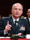 Washington, D.C. - May 18, 2006 --  United States Air Force General Michael Hayden testifies before the United States Senate Intelligence Committee on his nomination as Director of the Central Intelligence Agency (CIA) in Washington, D.C. on May 18, 2006. <br /> Credit: Ron Sachs / CNP