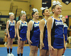 Mackenzie Gagliano, right, and the Centereach varsity cheerleading squad begin their performance at an eight-team competition held at Bethpage High School on Sunday, Jan. 22, 2017.