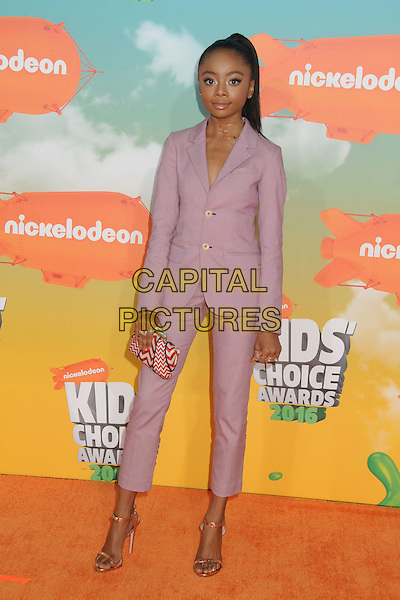 12 March 2016 - Inglewood, California - Skai Jackson. 2016 Nickelodeon Kids' Choice Awards held at The Forum.  <br /> CAP/ADM/BP<br /> &copy;BP/ADM/Capital Pictures