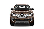 Car photography straight front view of a 2018 Renault Alaskan Denali 4 Door Pick Up