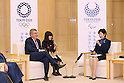 (L-R)   IOCThomas Bach,<br />  Yuriko Koike,<br /> OCTOBER 18, 2016 :<br /> International Olympic Committee (IOC) president Thomas Bach meets<br /> Tokyo Governor Yuriko Koike in Tokyo.<br />  (Photo by Sho Tamura/AFLO SPORT)