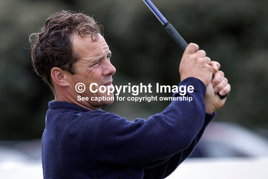 Malcolm Mackenzie, professional golfer, England. Taken at Nissan Irish Open, Portmarnock Golf Club, Ireland, in July 2003. Ref: 200307232631...Copyright Image from Victor Patterson, 54 Dorchester Park, Belfast, UK, BT9 6RJ..Tel: +44 28 9066 1296.Mob: +44 7802 353836.Voicemail +44 20 8816 7153.Skype: victorpattersonbelfast.Email: victorpatterson@mac.com.Email: victorpatterson@ireland.com (back-up)..IMPORTANT: If you wish to use this image or any other of my images please go to www.victorpatterson.com and click on the Terms & Conditions. Then contact me by email or phone with the reference number(s) of the image(s) concerned.