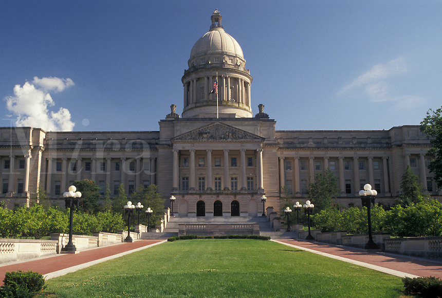State Capitol, Frankfort, KY, State House, Kentucky, The Kentucky State Capitol Building in the capital city of Frankfort.