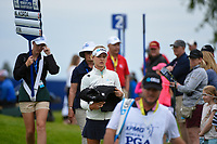 Nelly Korda (USA) heads to the tee on 2 during the round 3 of the KPMG Women's PGA Championship, Hazeltine National, Chaska, Minnesota, USA. 6/22/2019.<br /> Picture: Golffile | Ken Murray<br /> <br /> <br /> All photo usage must carry mandatory copyright credit (© Golffile | Ken Murray)
