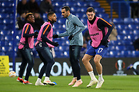 Andreas Christensen of Chelsea warms up ahead of kick-off during Chelsea vs PAOK Salonika, UEFA Europa League Football at Stamford Bridge on 29th November 2018