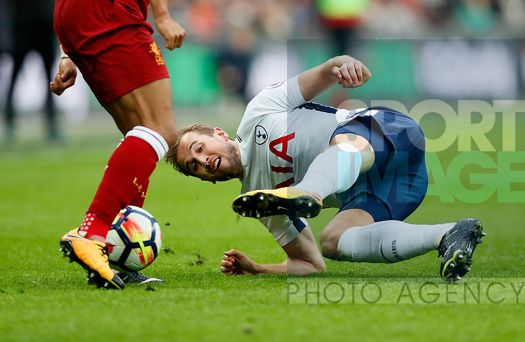 Tottenham's Harry Kane in action during the premier league match at Wembley Stadium, London. Picture date 22nd October 2017. Picture credit should read: David Klein/Sportimage