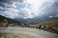 fans waiting for the riders up the Col d'Allos (1C/2250m/14km/5.5%)<br /> <br /> stage 17: Digne-les-Bains - Pra Loup (161km)<br /> 2015 Tour de France