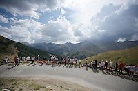 fans waiting for the riders up the Col d'Allos (1C/2250m/14km/5.5%)<br /> <br /> stage 17: Digne-les-Bains - Pra Loup (161km)<br /> 2015 Tour de France