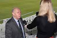 Essex CCC Chairman John Faragher is interviewed prior to the Lord's Taverners Presentation at Lord's Cricket Ground on 12th March 2018