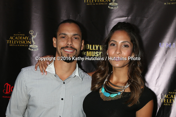 LOS ANGELES - APR 27:  Bryton James, Christel Khalil at the 2016 Daytime EMMY Awards Nominees Reception at the Hollywood Museum on April 27, 2016 in Los Angeles, CA