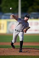 Grand Junction Rockies starting pitcher Mitchell Kilkenny (34) during a Pioneer League game against the Grand Junction Rockies at Dehler Park on August 15, 2019 in Billings, Montana. Billings defeated Grand Junction 11-2. (Zachary Lucy/Four Seam Images)