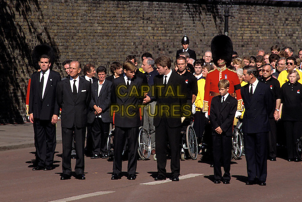 DIANA, PRINCESS OF WALES.royal, funeral procession, prince william, harry, charles.Ref: 6336.www.capitalpictures.com.sales@capitalpictures.com.©Capital Pictures