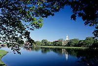 view of Lowell House, Harvard, Charles River, Cambridge, MA