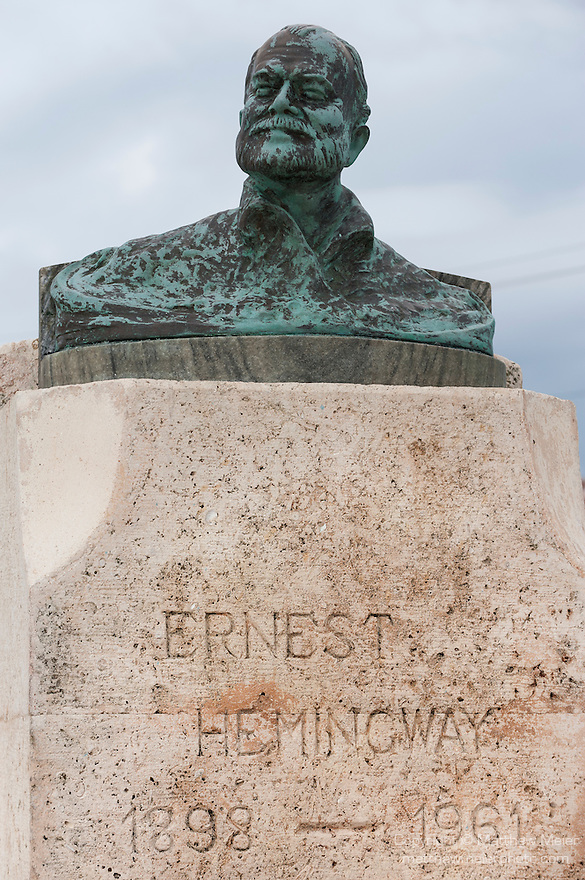 Cojimar, Cuba; a bust of Ernest Hemingway sits in a small square built in his honor, Cojimar is the village setting in the Old Man and the Sea