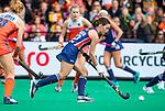 ROTTERDAM - Amanda Magadan (USA)  tijdens de Pro League hockeywedstrijd dames, Netherlands v USA (7-1)  .  COPYRIGHT  KOEN SUYK