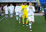 St Johnstone v Celtic&hellip;.McDiarmid Park, Perth.. 11.05.16<br />Champions are led out by captain Erik Sviatchenko<br />Picture by Graeme Hart.<br />Copyright Perthshire Picture Agency<br />Tel: 01738 623350  Mobile: 07990 594431