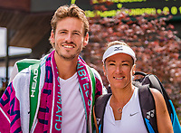 London, England, 8 July, 2019, Tennis,  Wimbledon, Mixed doubles: Kveta Peschke (CZE) and Wesley Koolhof (NED)<br /> Photo: Henk Koster/tennisimages.com