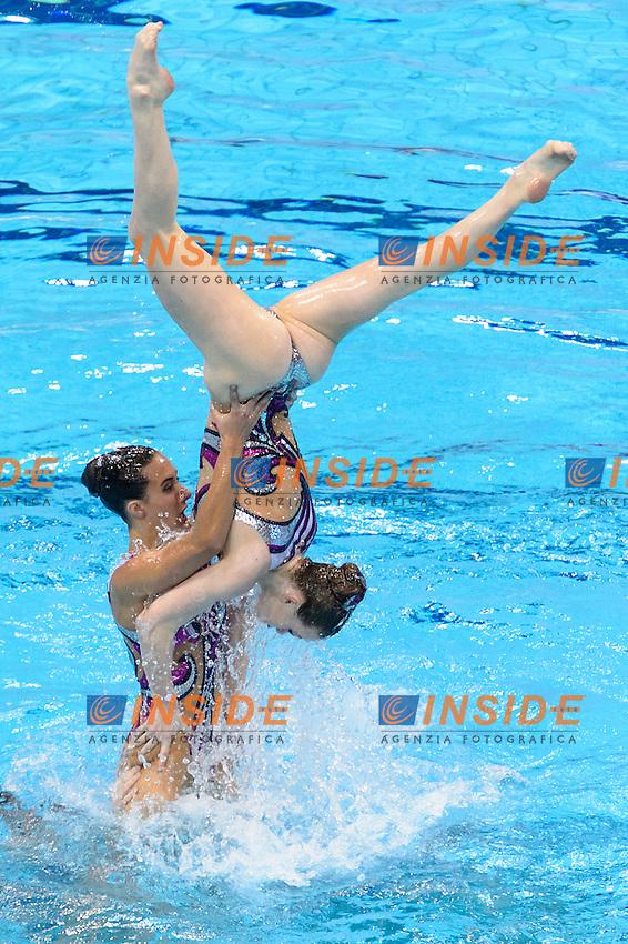 GREAT BRITAIN GBR <br /> CLARK Katie RANDALL Hannah CRITCHLEY Emma SHORTMAN Kate BROWN Jorja BRADLEY-SMITH Phoebe JAMES Zoe <br /> COOPER Danielle<br /> Team Free Preliminary  <br /> London, Queen Elizabeth II Olympic Park Pool <br /> LEN 2016 European Aquatics Elite Championships <br /> Synchronized Swimming <br /> Day 03 10-05-2016<br /> Photo Andrea Staccioli/Deepbluemedia/Insidefoto