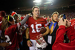 Wisconsin Badgers quarterback Scott Tolzien (16) walks off the field after an NCAA college football game against the Ohio State Buckeyes on October 16, 2010 at Camp Randall Stadium in Madison, Wisconsin. The Badgers beat the Buckeyes 31-18. (Photo by David Stluka)