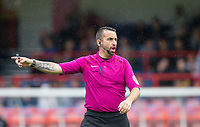 Referee during the pre season friendly match between Aldershot Town and Wycombe Wanderers at the EBB Stadium, Aldershot, England on 22 July 2017. Photo by Andy Rowland.
