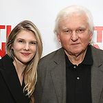 "Lily Rabe abd David Rabe attends The New Group presents the New York Premiere Opening Night of David Rabe's for ""Good for Otto"" on March 8, 2018 at the Green Fig Urban Eatery,  in New York City."
