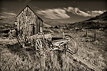 Bannack Wagon & Shed #2 - b/w