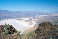Death Valley National Park, California, CA, USA - At Dante's View overlooking Badwater Basin, Salt Flats, and Panamint Mountains